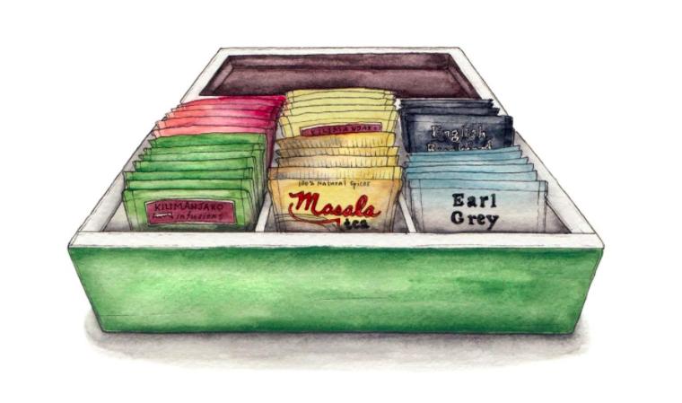 candace rose rardon illustrazione tè